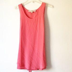 Reiss Coral Silk Sleeveless Tank Top Blouse 8